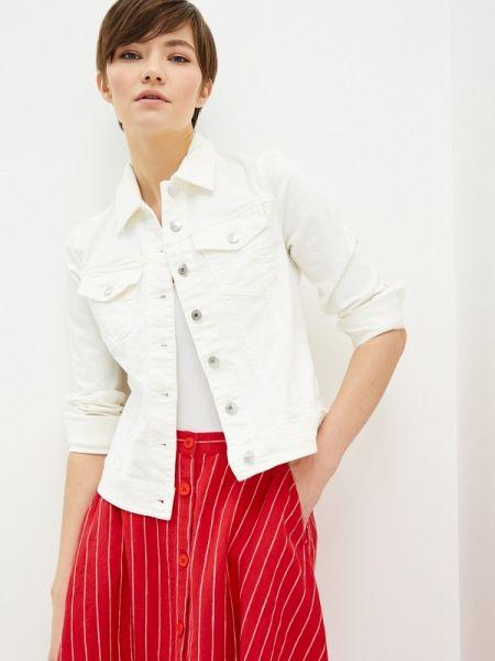 Джинсовая куртка весенняя белая United Colors Of Benetton