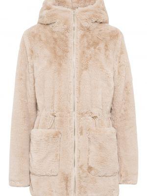 Куртка из искусственного меха - бежевая Bonprix