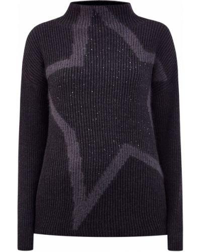 Черный вязаный пуловер из мохера Lorena Antoniazzi