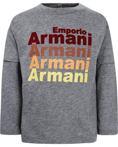 Серая лонгслив Armani Junior