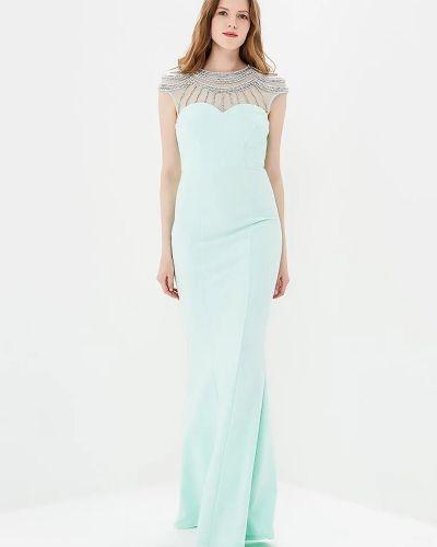 Вечернее платье с камнями мятное Goddiva