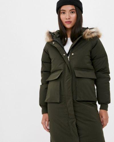 Теплая зеленая зимняя куртка Liana