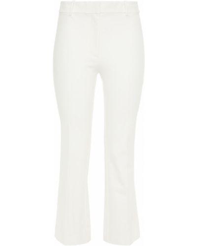 Хлопковые белые укороченные брюки стрейч Derek Lam 10 Crosby