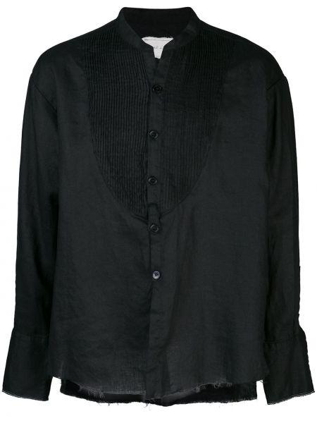 Czarna koszula z długimi rękawami Greg Lauren