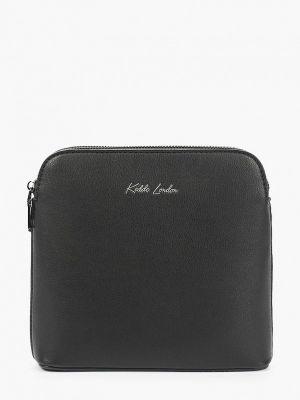 Кожаная сумка через плечо - черная Keddo