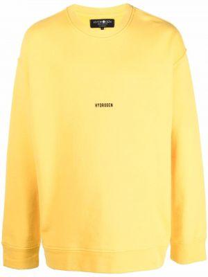 Żółta bluza bawełniana Hydrogen