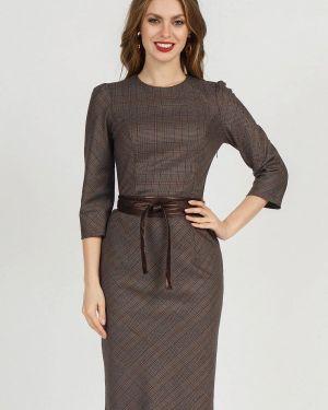Платье футляр осеннее Olivegrey