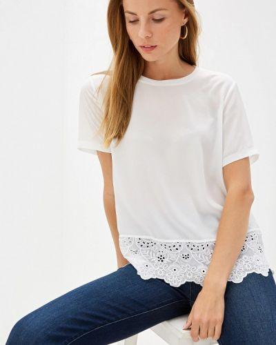 Блузка с коротким рукавом белая French Connection