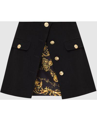 Джинсовая юбка мини - черная Versace Jeans Couture