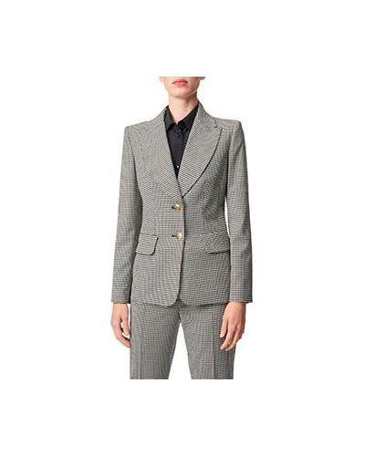 Костюмный серый шерстяной брючный костюм Luisa Spagnoli