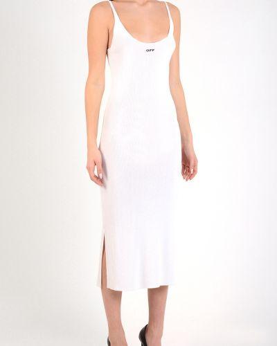 Платье миди облегающее в рубчик Off-white