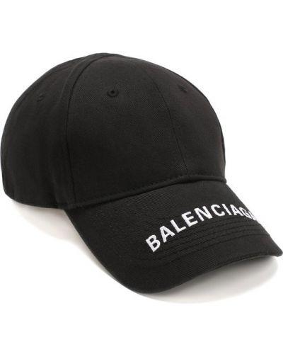 Черная бейсболка с логотипом Balenciaga