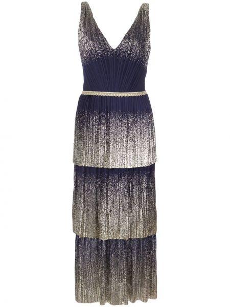 Вечернее платье с открытой спиной миди Marchesa Notte