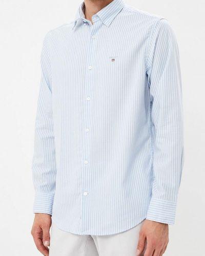Голубая рубашка с длинным рукавом Gant
