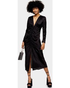 Черное вечернее платье Topshop