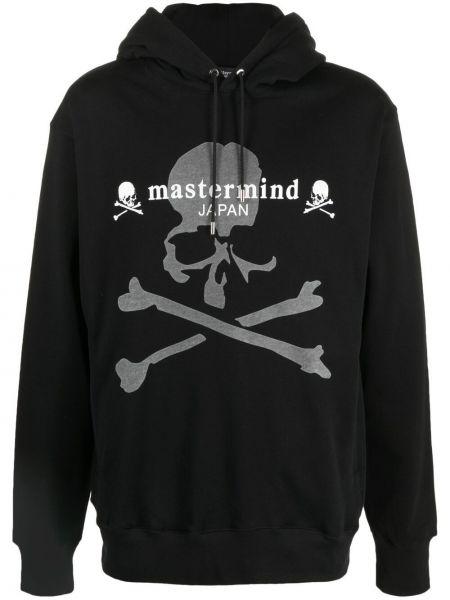 Czarna bluza z kapturem z długimi rękawami Mastermind World