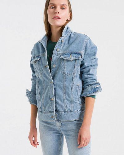 Джинсовая куртка весенняя синий Ltb