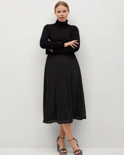 Коричневая юбка свободного кроя Violeta By Mango