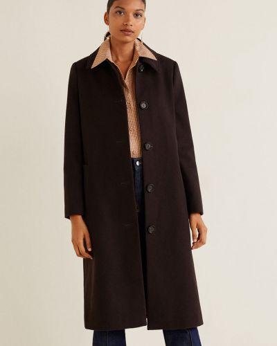 Утепленная куртка в клетку с поясом Mango