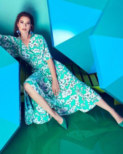 Зеленое платье Koton