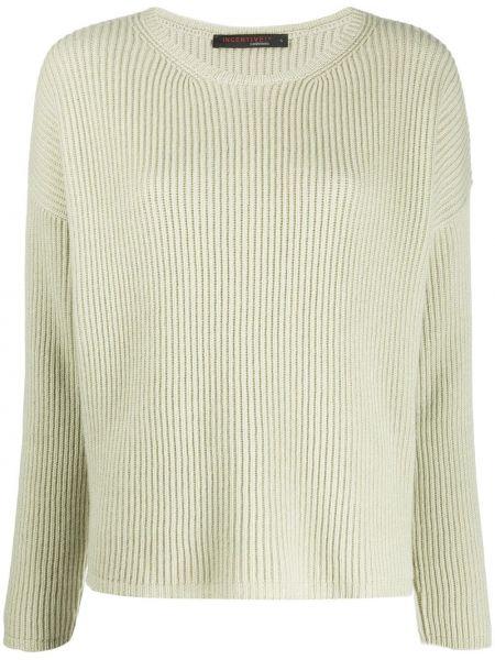 Прямой с рукавами кашемировый свитер с круглым вырезом Incentive! Cashmere