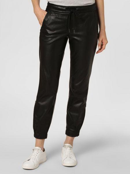 Czarne spodnie skorzane Rosner