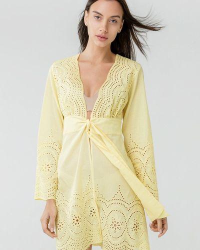 Желтая пляжная туника Ora