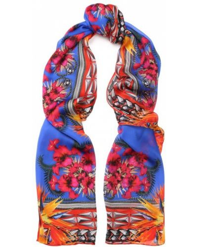 Синий платок из шелка Givenchy