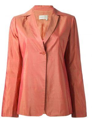 Желтый прямой пиджак винтажный на пуговицах Romeo Gigli Pre-owned
