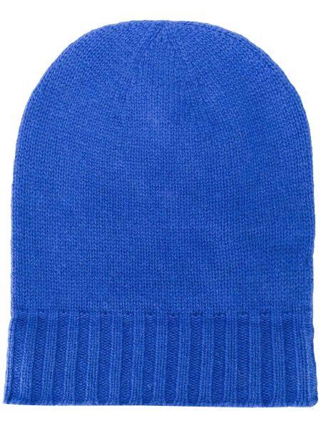 Вязаная шапка бини - синяя Pringle Of Scotland