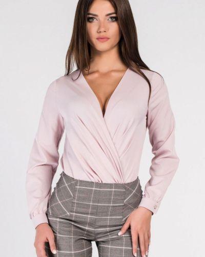Блузка с длинным рукавом розовая Carica&x-woyz