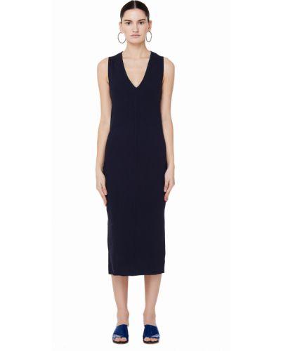 Облегающее платье в рубчик вязаное James Perse