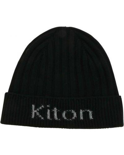 Czarna czapka beanie Kiton