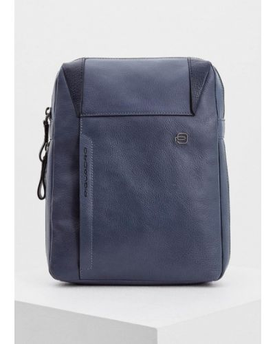 Синяя сумка через плечо Piquadro