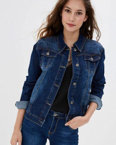 Джинсовая куртка осенняя синий G&g