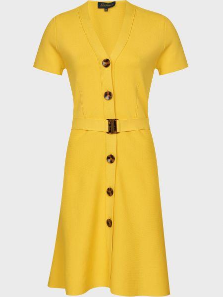 Желтое платье на пуговицах из вискозы Luisa Spagnoli