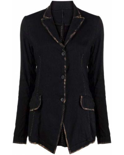 Ватная черная длинная куртка с воротником Masnada