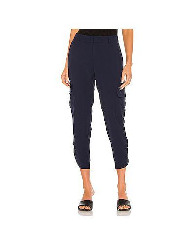 Синие брюки карго с карманами с манжетами с оборками Parker