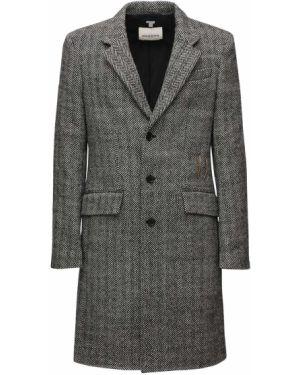 Czarny płaszcz wełniany Rochas