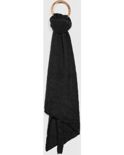 Черный шарф из джерси Pieces