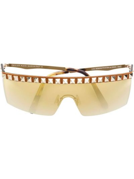 Złote okulary miejskie Philipp Plein