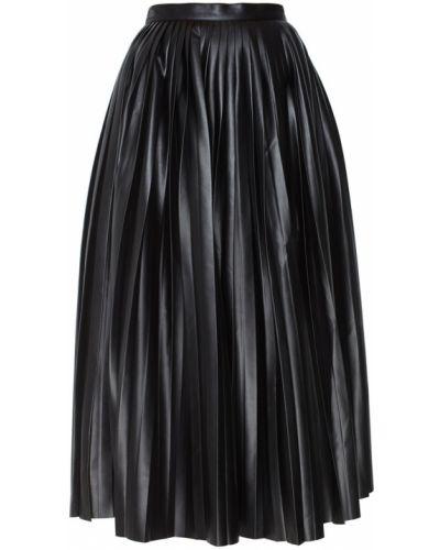 Плиссированная юбка кожаная шелковая Alexander Terekhov