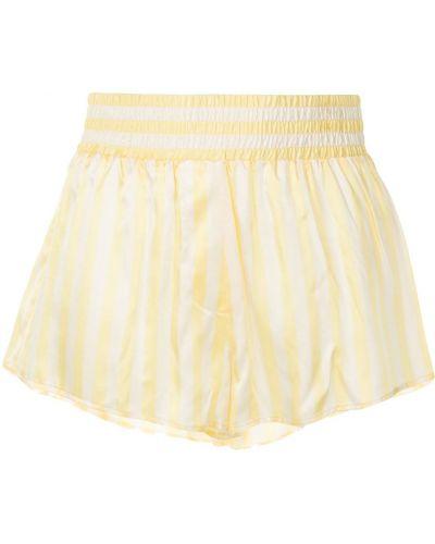 Желтые шорты в полоску с карманами Morgan Lane