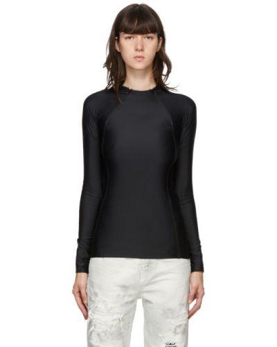 Черная рубашка с воротником стрейч с рукавом реглан Gmbh