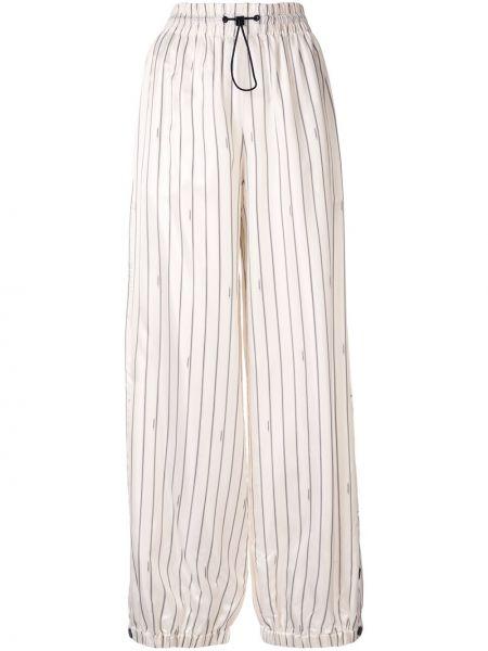 Белые нейлоновые брюки с завязками с поясом Monse