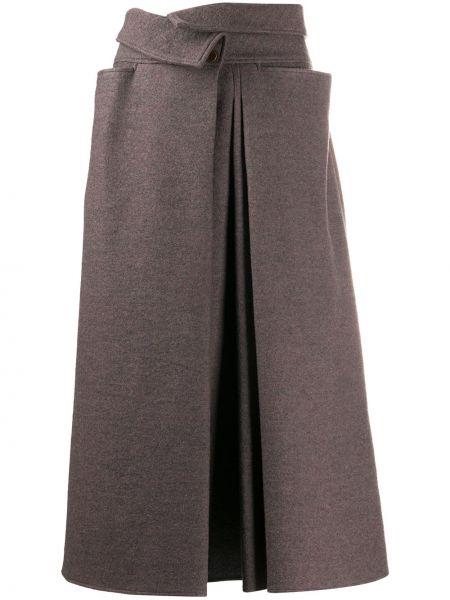 Wełniany spódnica z kieszeniami przycięte Lemaire