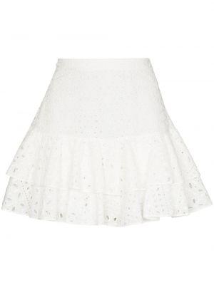 Юбка мини с завышенной талией - белая Charo Ruiz Ibiza