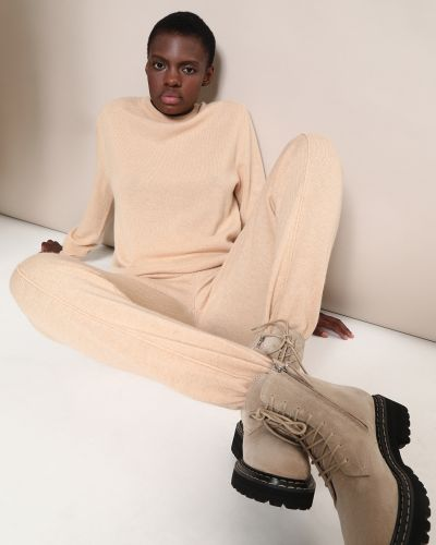 Шерстяные брюки - бежевые 12storeez