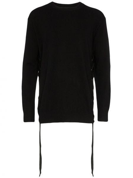 Czarny sweter wełniany koronkowy Faith Connexion