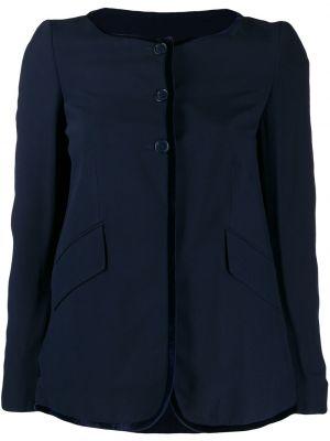 Синяя длинная куртка с манжетами Romeo Gigli Pre-owned